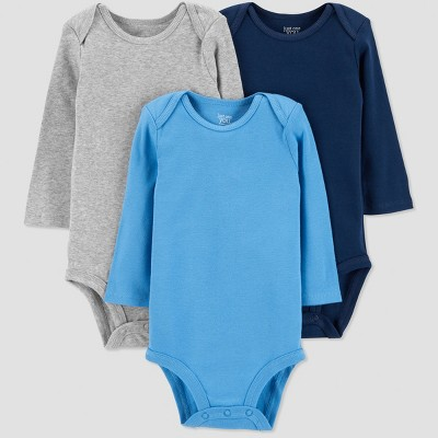 Baby Boys' 3pk Bodysuit - Just One You® made by carter's Light Heather 6M