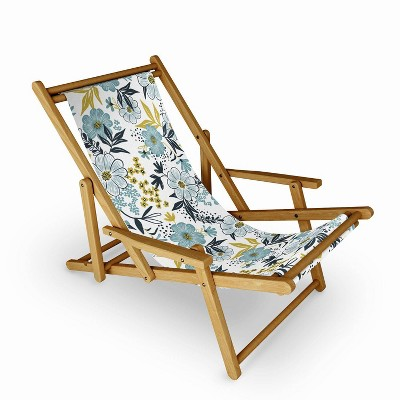 Heather Dutton Harper Dusk Blue Sling Chair - Deny Designs