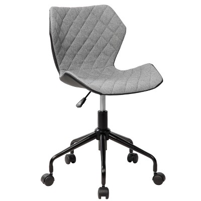 Deluxe Modern Height Adjustable Office Armless Task Chair- Gray- Techni Mobili