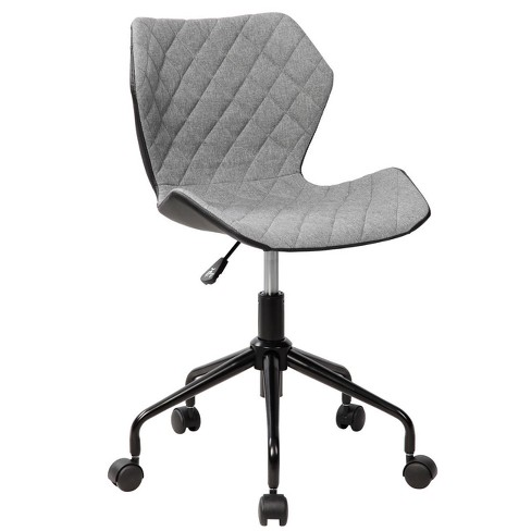 Deluxe Modern Height Adjustable Office Armless Task Chair- Grey- Techni Mobili - image 1 of 7
