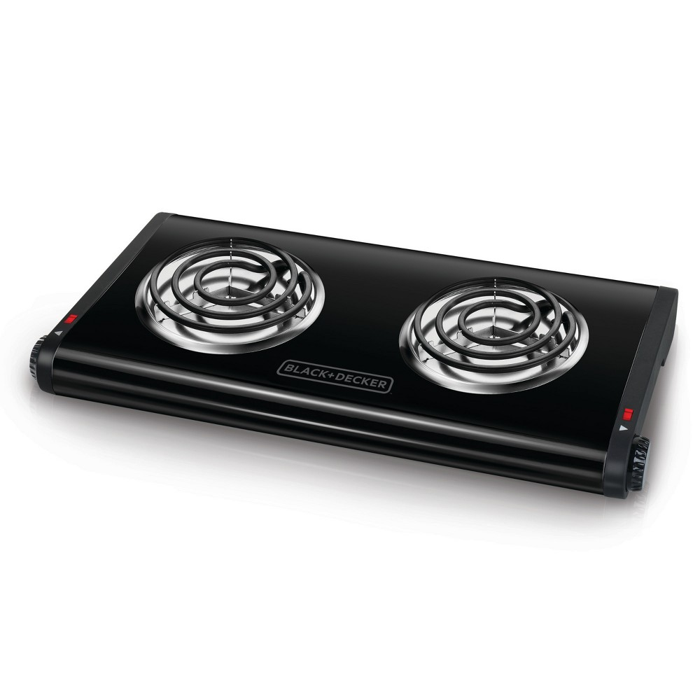 Image of BLACK+DECKER Double Burner Portable Buffet Range - Black DB1002B