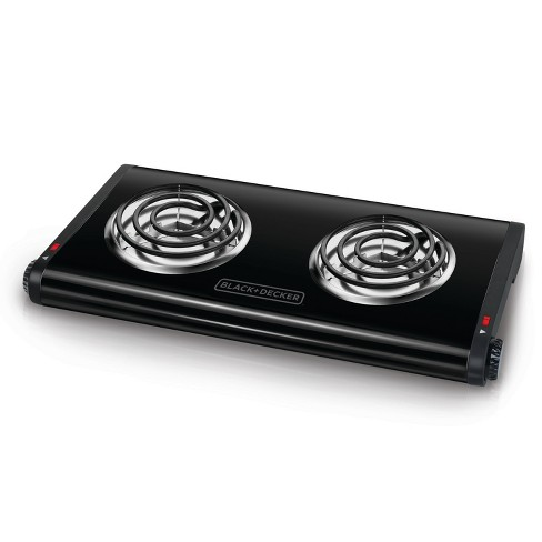 BLACK+DECKER Double Burner Portable Buffet Range - Black DB1002B - image 1 of 6
