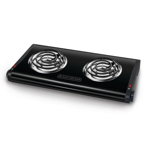 BLACK+DECKER Double Burner Portable Buffet Range - Black DB1002B