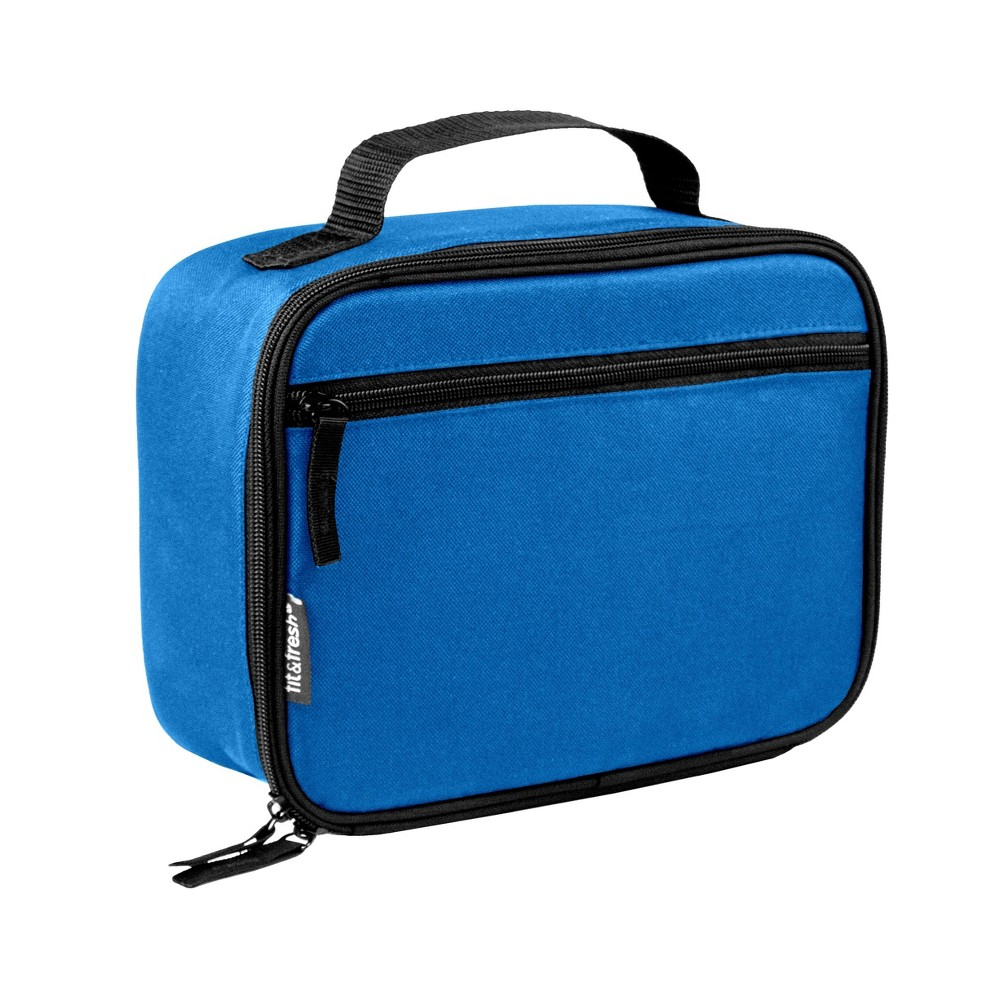Image of Fit & Fresh Insulated Essential Lunch Box with External Pocket - Blue