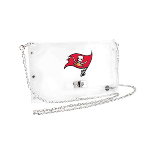 NFL Tampa Bay Buccaneers Clear Envelope Purse - image 1 of 1