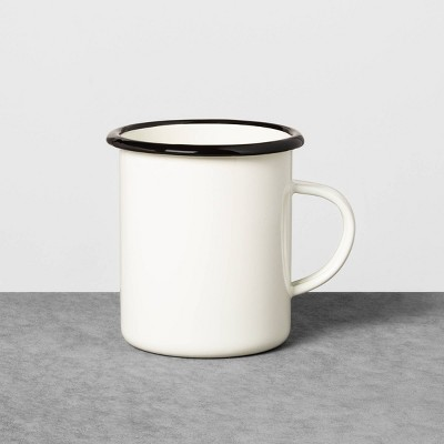 Enamelware Mug Sour Cream with Black Rim - Hearth & Hand™ with Magnolia