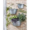 """Melrose 12"""" Rustic Half Tub Containers Hanging Outdoor Wall Planters 3pc - Gray - image 2 of 2"""