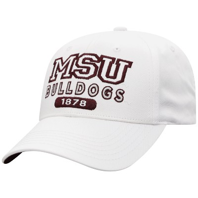 NCAA Mississippi State Bulldogs Men's White Twill Structured Snapback Hat