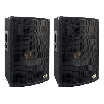 """Pyle PADH1079 500W Heavy Duty Outdoor Two-Way Speaker Cabinet with 10"""" Woofer, 1.5"""" Kapton VC, Dual Tweeters, 4""""x10"""" Super Horn Midrange (2 Pack)"""
