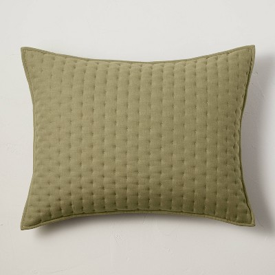 Cashmere Blend Quilted Pillow Sham - Casaluna™