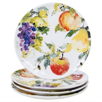 "11"" 4pk Earthenware Ambrosia Dinner Plates- Certified International"