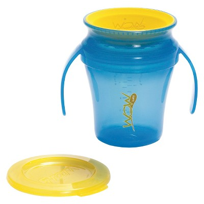 Wow Cup® Spill Free 360-Degree Drinking Edge Training Cup 9M+ - Blue