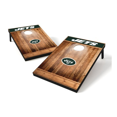 New York Jets Wild Sports 2x3 Rustic Wooden Plaque Tailgate Toss