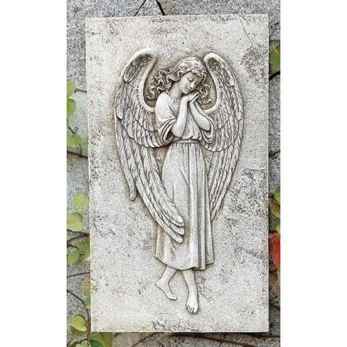 "Roman 15.5"" Gray Angel Outdoor Garden Patio Wall Plaque - image 1 of 1"