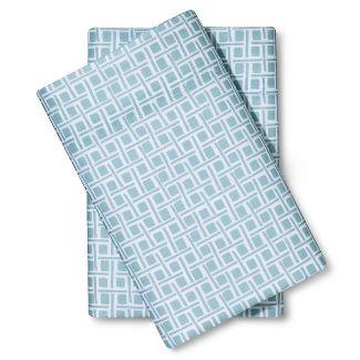 King Microfiber Pillowcase Set Caribbean Aqua - Room Essentials™