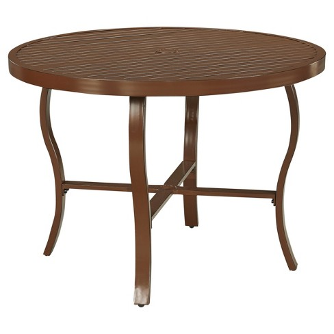 Key West Round Outdoor Dining Table - Chocolate Brown - Home Styles - image 1 of 1