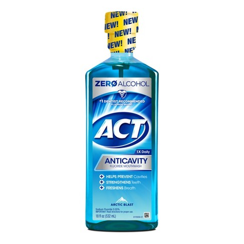 Act Anticavity Fluoride Mouthwash Arctic Blast - 18oz - image 1 of 1