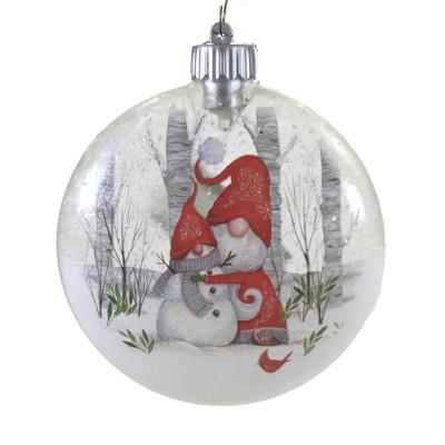 "Holiday Ornament 5.25"" Led Santa Snowman Ornament Lights Up  -  Tree Ornaments"