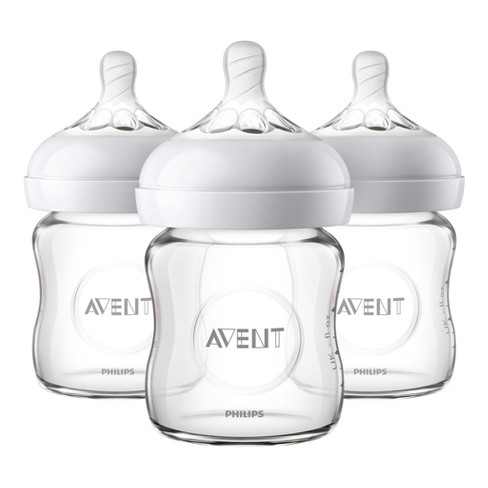 Philips Avent 3pk Natural Glass Baby Bottle 4oz - image 1 of 4