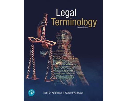 Legal Terminology -  by Kent D. Kauffman & Gordon W. Brown (Paperback) - image 1 of 1