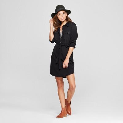 c1f8865880fa Womens Denim Shirt Dress – Universal Thread™ Black S – Target ...