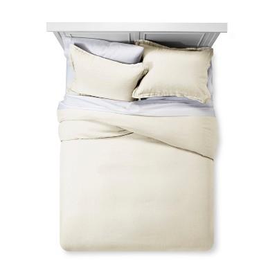 Sour Cream Linen Duvet Cover Set (King)- Fieldcrest®