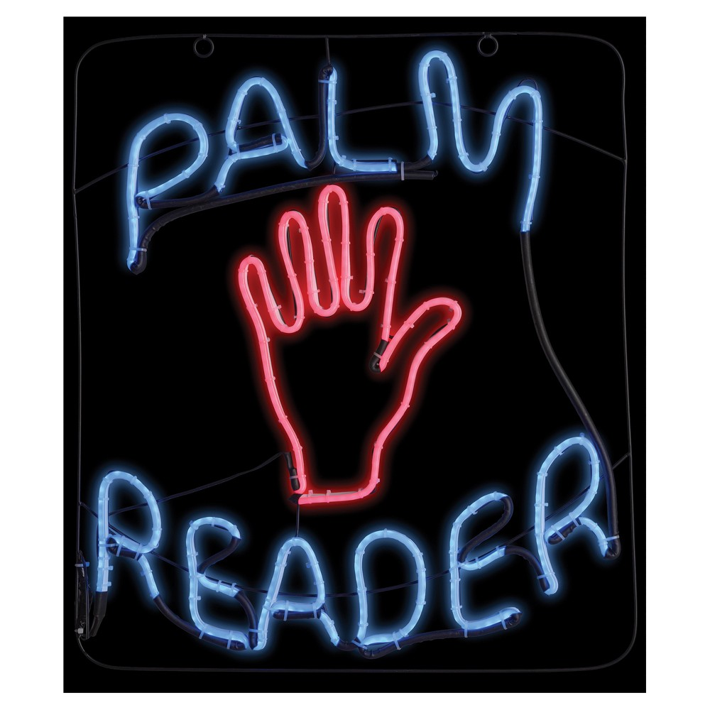 "Image of ""23 """"Halloween Palm Reader Glow Light Sign"""