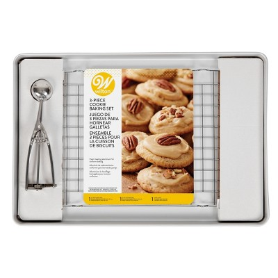Wilton 3pc Aluminum Cookie Sheet Set