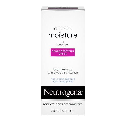 Neutrogena Oil Free Facial Moisturizer Sunscreen - SPF 35 - 2.5 fl oz - image 1 of 4