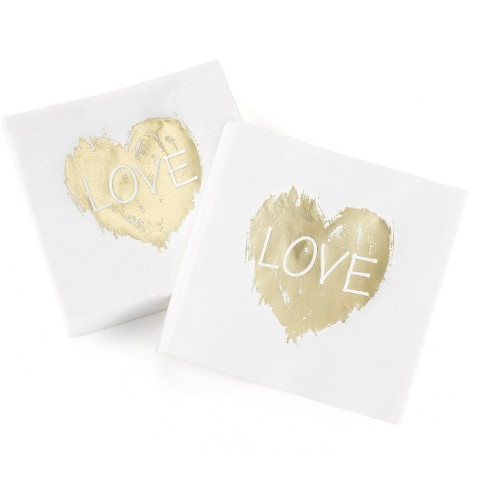 50ct Love Heart' Disposable napkins - image 1 of 1