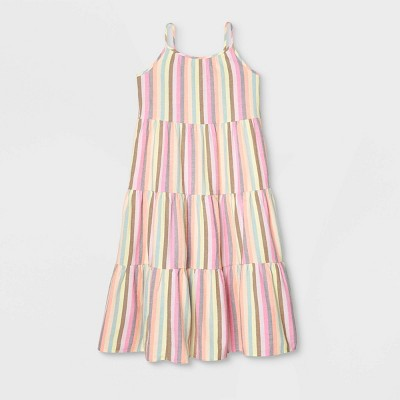 Girls' Tiered Woven Maxi Sleeveless Dress - Cat & Jack™
