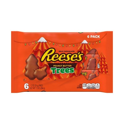 Reese's Holiday Peanut Butter Trees - 7.2oz/6ct