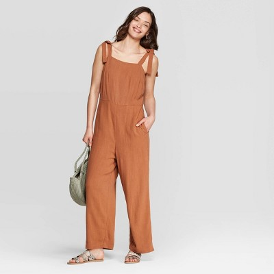 Women's Sleeveless Shoulder Tie Jumpsuit   Universal Thread by Universal Thread