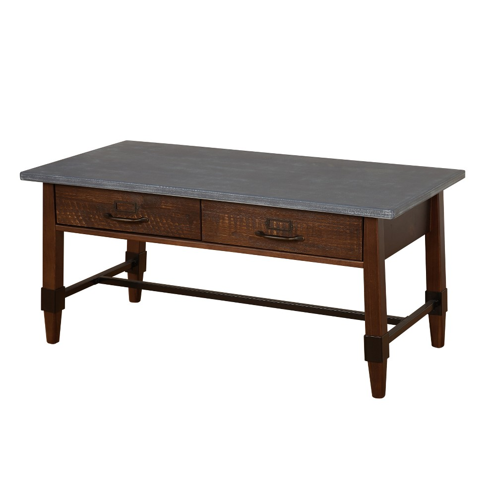 Clint Coffee Table Gray/Espresso - Buylateral