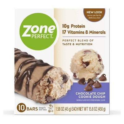 ZonePerfect Protein Bar Chocolate Chip Cookie Dough - 10 ct/15.8oz