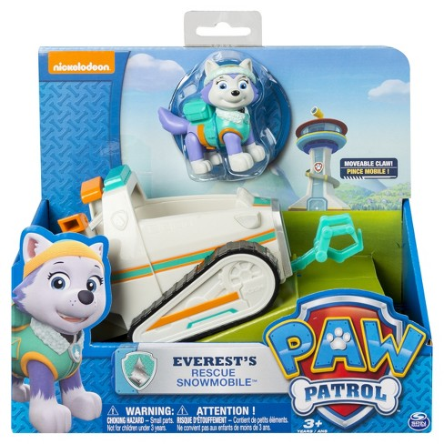 Paw Patrol Everests Rescue Snowmobile Vehicle And Figure Target