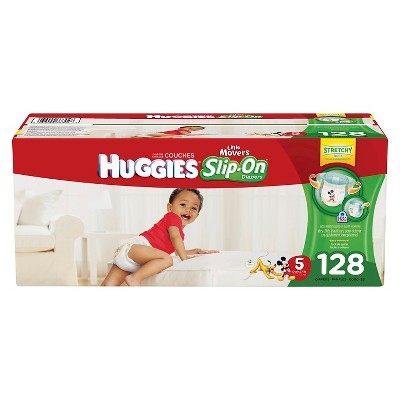 Huggies Little Movers Slip-On Diapers Economy Plus Pack - Size 5 (128ct)