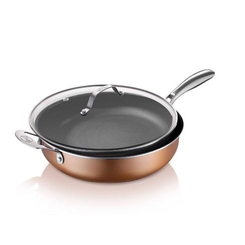 Gotham Steel Cast Textured Copper 5.5qt Dual Handle Pot - image 1 of 4