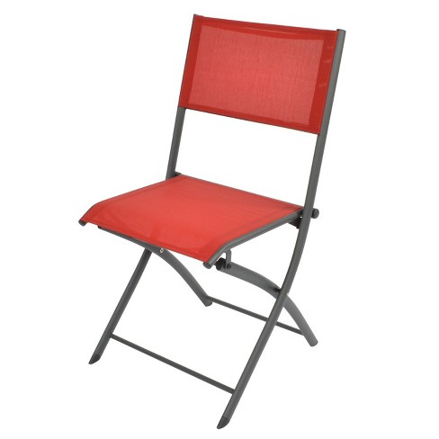 Fabulous Folding Sling Patio Bistro Chair Red Threshold Gmtry Best Dining Table And Chair Ideas Images Gmtryco