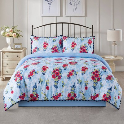Floral Bouquet Quilted Comforter Set - Country Living