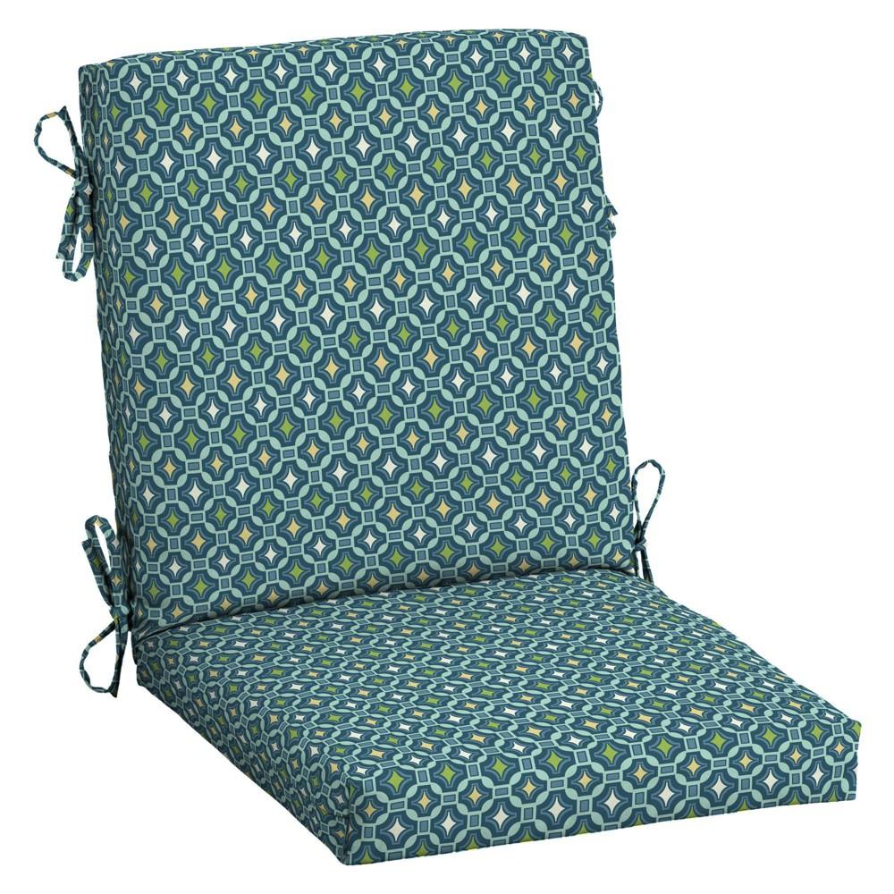 Arden Selections 20 34 X 20 34 Alana Tile Outdoor High Back Dining Chair Cushion