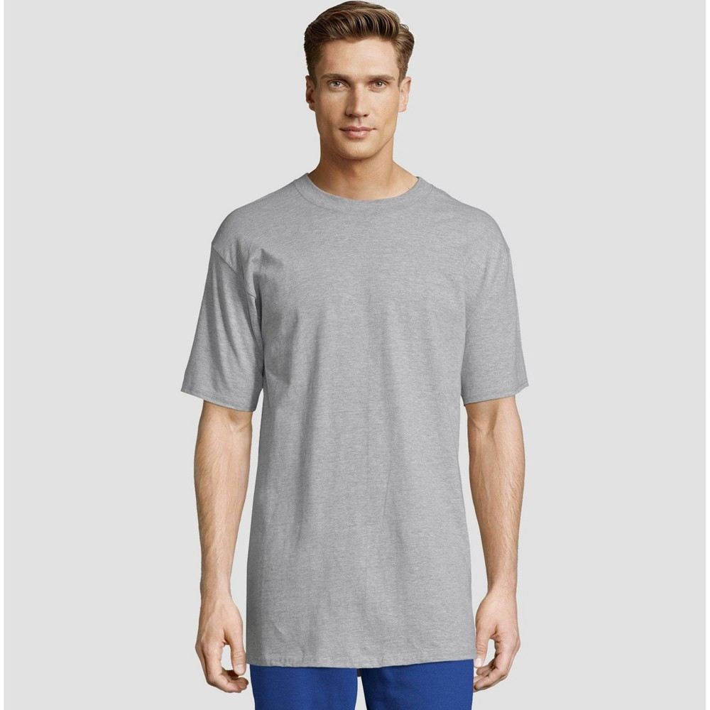 search for authentic uk cheap sale sells Hanes Mens Tall Short Sleeve Beefy T Shirt Light Steel Xlt
