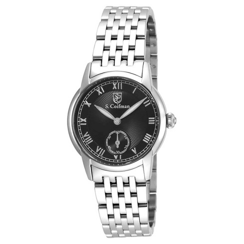 Women's Invicta SC0348 Quartz 3 Hand Black Dial Link Watch - Silver - image 1 of 1