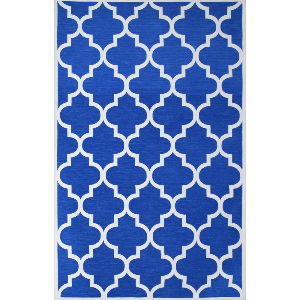 Fretwork Rug - Blue (4'X6')