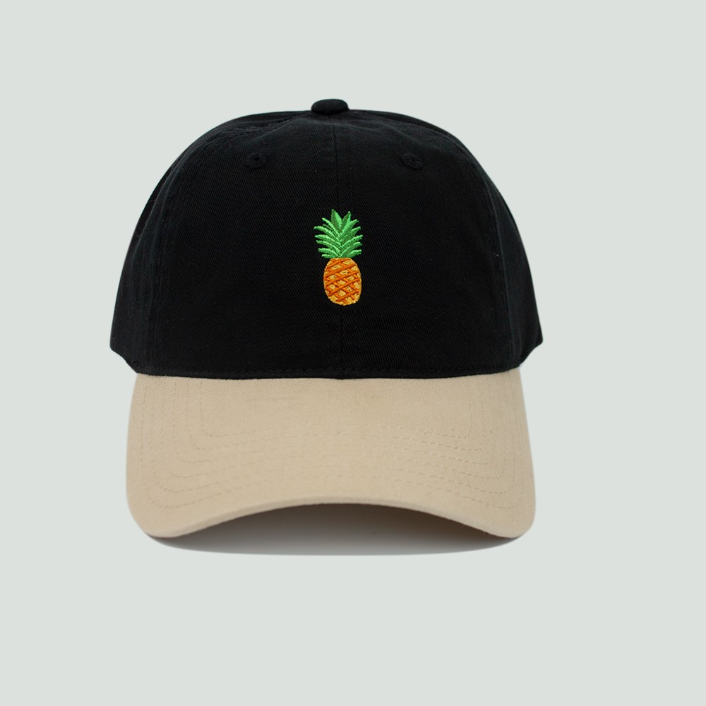 Image of Men's Pineapple Dad Hat - Black One Size