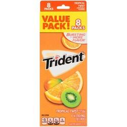 Trident Tropical Twist Gum - 8ct