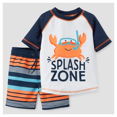 Toddler Boys' Rash Guard Set - Just One You™ Made by Carter's® Siam Blue Opaque 12M