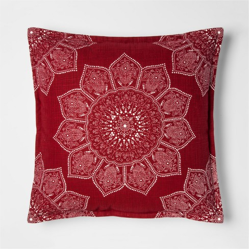 Red Medallion Throw Pillow - Threshold™ - image 1 of 2