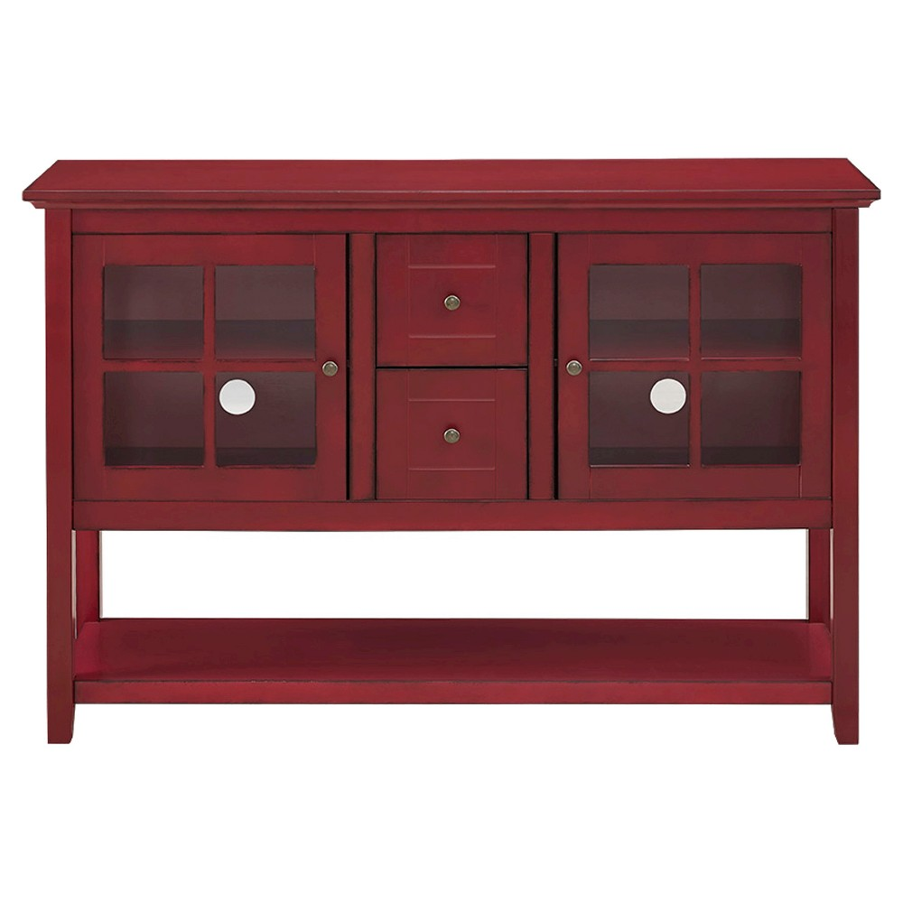 52 Wood Console Table Buffet Red - Saracina Home
