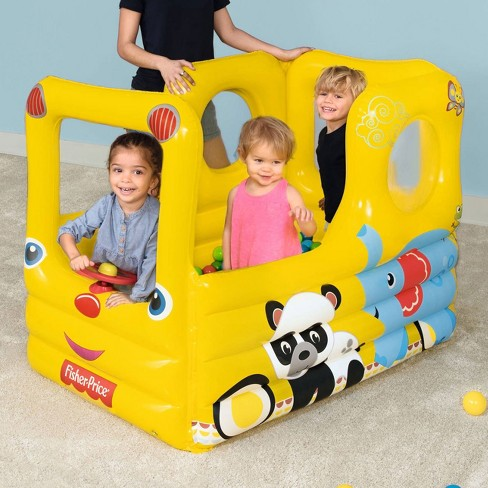Fisher Price Lil Learner School Bus Inflatable Play House Ball Pit